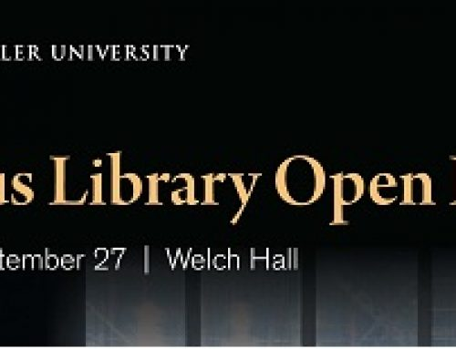 Markus Library Open House – Thursday, September 27 | Welch Hall