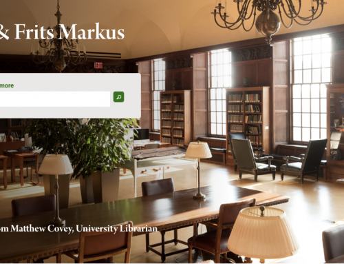 Rita and Frits Markus Library Launches New Website!