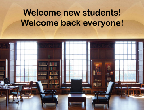 Welcome (back) everyone! We have new resources for you!