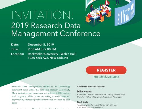 2019 Research Data Management Conference