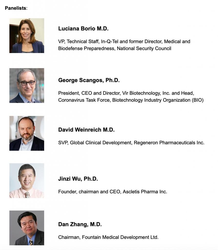 BioCentury webinar panelists