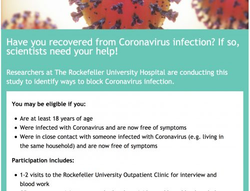 Have you recovered from coronavirus? You can help save lives!