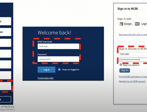 Important Changes to Log into NCBI Accounts: Action to Take